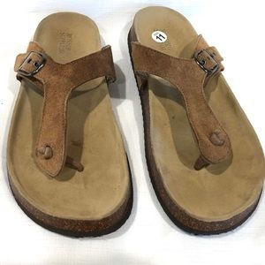 Mossimo Supply Co. Beige Leather Thong Sandal 11